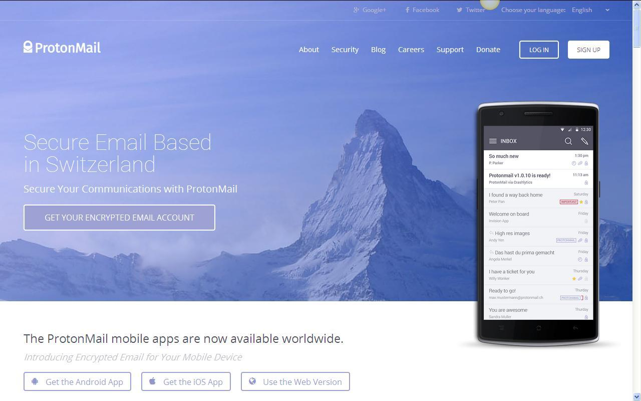 protonmail com secure email everyone signup